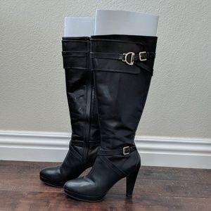 Cole Haan Knee High Black Boots (Sz 6.5)